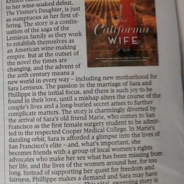 The Globe and Mail Reviews The California Wife!