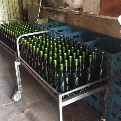 Bottles at Domaine du Clos Naudin, Vouvray