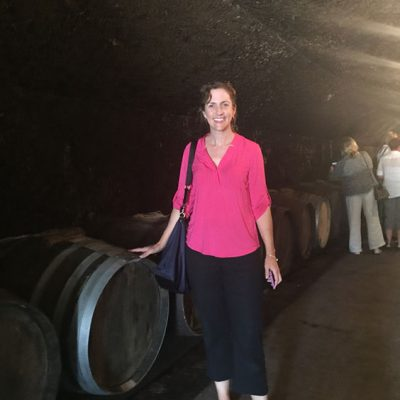 In the caves at Domaine du Clos Naudin, Vouvray