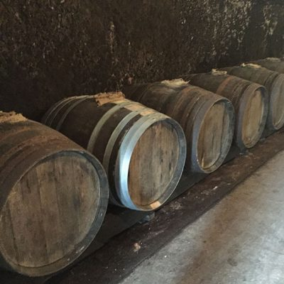 Barrels at Domaine du Clos Naudin, Vouvray