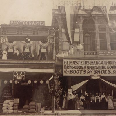 Downtown Napa stores, circa 1900