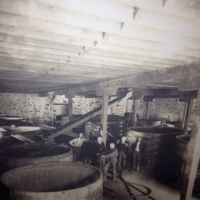 Gravity flow winery circa 1900